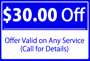 $30.00 Off  - Offer Valid on Any Service (Call for Details)